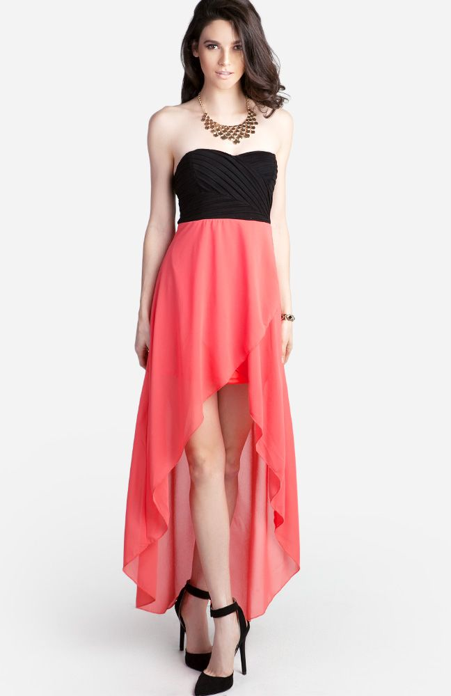 High Low Sweetheart Dress from DailyLook