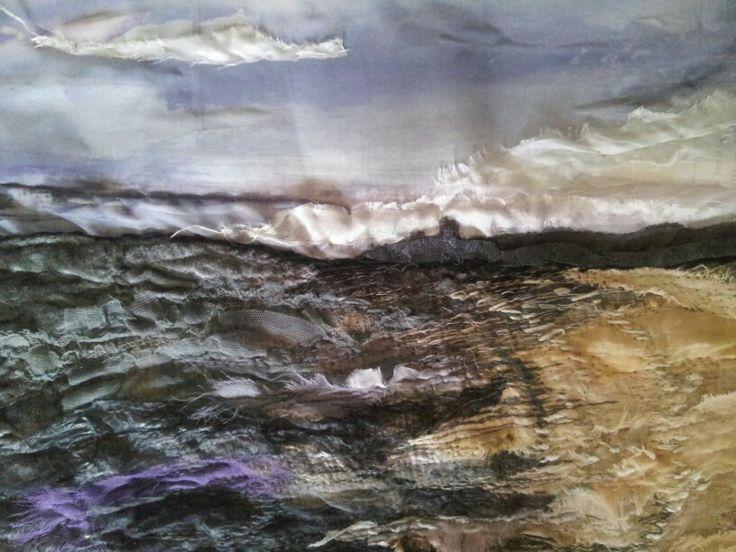 Tynemouth magenta dusk - Laura Edgar