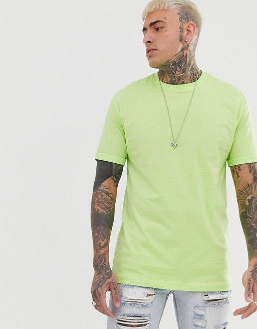 12ade6dabd0102 Bershka Join Life loose fit t-shirt in neon green in 2019   asos men ...