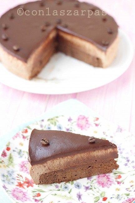Tarta de café y chocolate