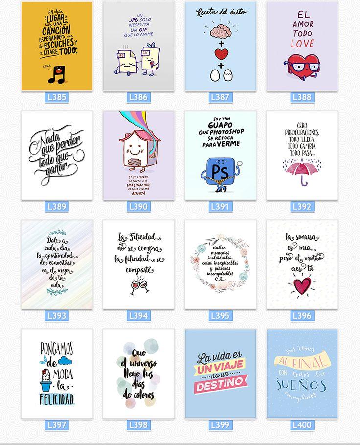 Cuadros Impresos Con Frases De La Vida +400 Diseños - $ 95,00
