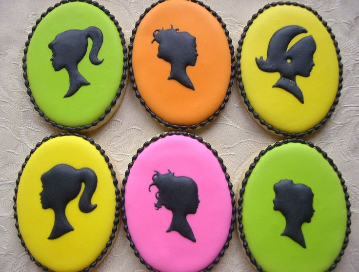 Neon silhouette cookies