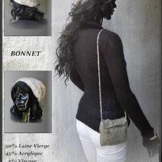 Bonnet en laine fait main en france
