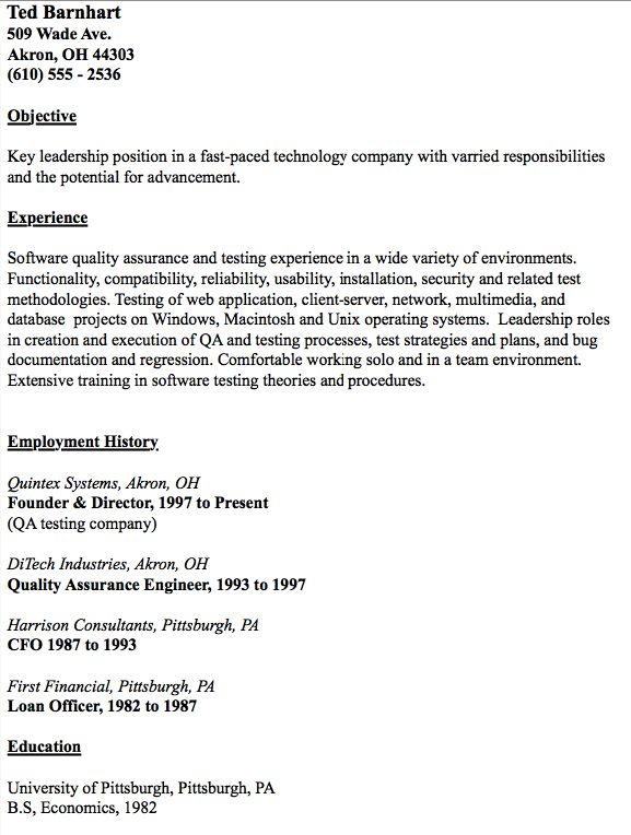 Example Of QA Test Engineer Resume - http://resumesdesign.com/example-of-qa-test-engineer-resume/