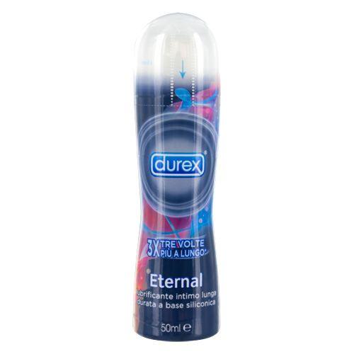 Eternal by Durex è il lubrificante intimo a base di silicone, che a differenza dei lubrificanti a base acquosa permette una più lunga lubrificazione. E' scientificamente provato che la lubrificazione di Durex Eternal duri 3 volte più a lungo dei più venduti lubrificanti Durex a base acquosa. La sua speciale formula da una piacevole sensazione di calore. Adatto all'utilizzo con il profilattico, facilità di utilizzo, grazie al comodo flacone con erogatore.Produttore: DUREX;Materiale…
