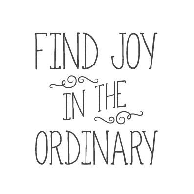 wall quote - Find Joy In the Ordinary (handwritten)