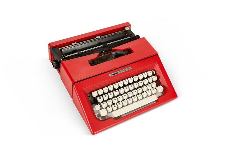 olivetti red typewriter