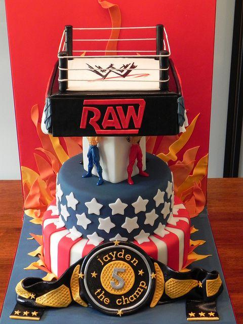 Wwe Wrestling Ring 3 Tier Cake Wwe Pinterest Tier