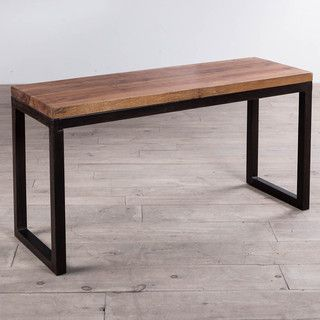 Cordova reclaimed wood iron console table india for Top rated coffee tables