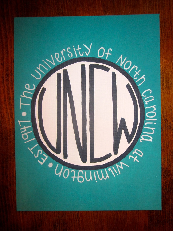 UNC Wilmington Canvas. Must do for Chapel Hill.