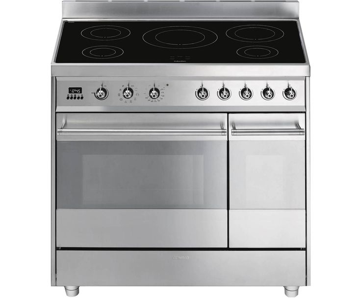 Smeg SY92IPX8 90cm Electric Range Cooker with Induction Hob - Stainless Steel