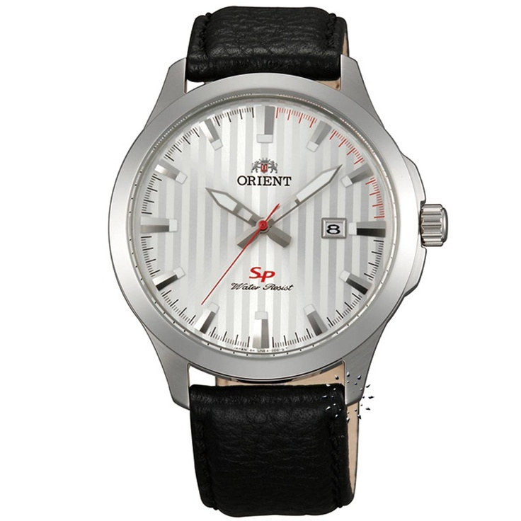 ORIENT Black Leather Strap  Τιμή: 66€  http://www.oroloi.gr/product_info.php?products_id=29374