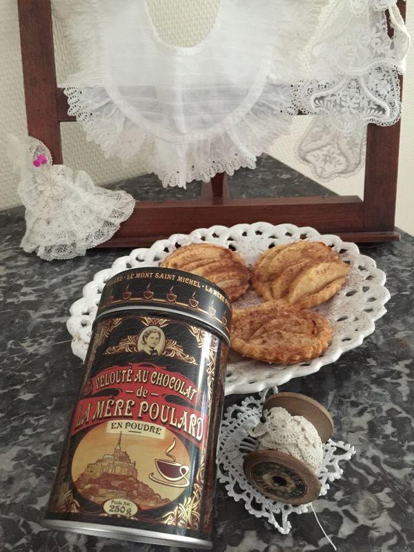 Tartelette fine pomme chocolat mere poulard