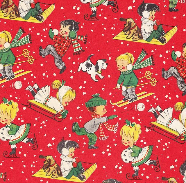 17 best images about vintage wrapping paper on pinterest for Best christmas wrapping paper