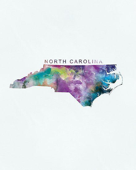 North Carolina Photographic Print Map Arts North Carolina Map - Raleigh-nc-on-us-map