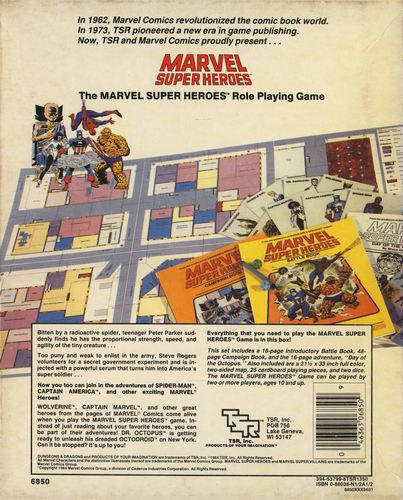MH-0: Marvel Super Heroes Role-Playing Game | Image | RPGGeek