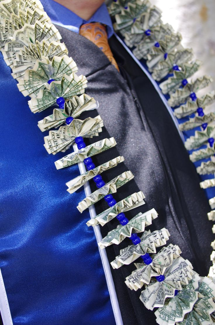 Money Leis for Graduation. I watched a youtube video of ...
