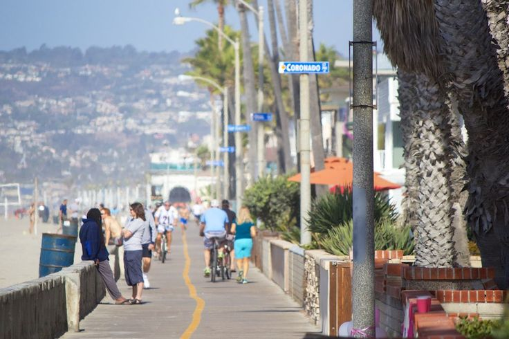 For the ultimate SoCal experience, make sure to check out the Oceanfront Boardwalk that runs from Mission Beach to Pacific Beach. Whether you are walking, biking or jogging, this 3.5 mile stretch through these popular sandy beaches in San Diego will open your eyes to the beach culture of this awesome town.