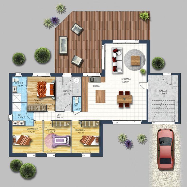 Les 25 meilleures id es de la cat gorie plan maison for Plan belle maison