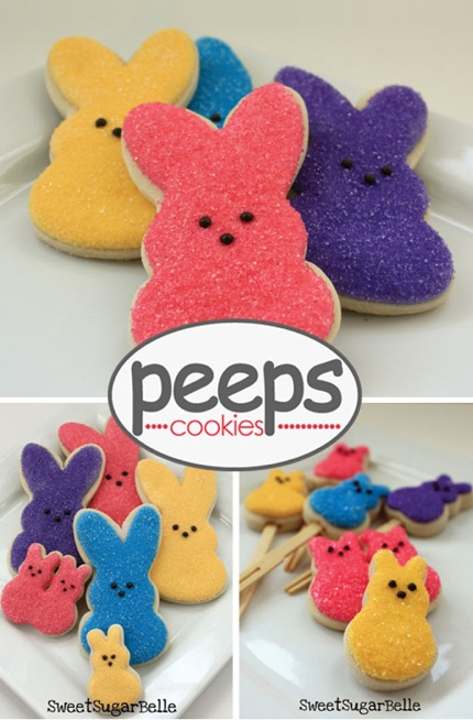 Peeps Sugar Cookies! How fun is that?!