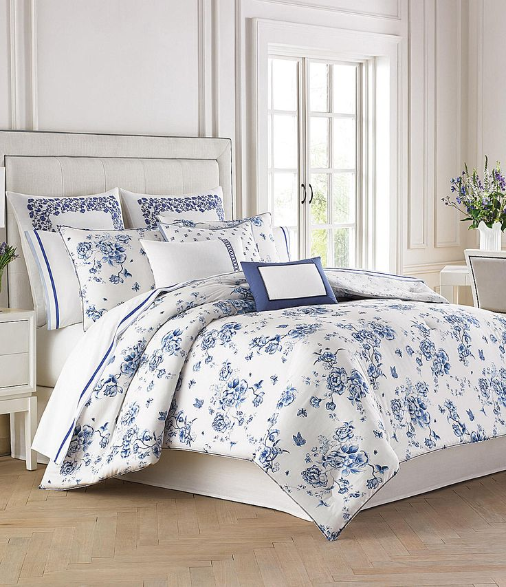 Wedgwood china blue floral bedding collection bedrooms bedding pinterest Master bedroom bed linens