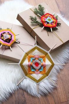 Remember those simple little diamond shaped yarn weavingswe all made at summer camp with just two popsicle sticks and a some colorful yarn? Who knew that god's eyes, which originated from Mexico's Huichol Indians, can be so beautifully complex, incredibly dramatic, and so wonderful
