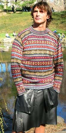 Historic Hand Knit Fair Isle Sweater :: Katie's Pattern Fair Isle jumper by Rosabell Halcrow :: Katie's Pattern product details