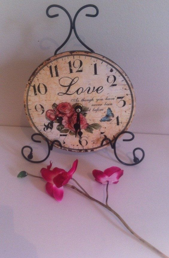 Shabychic Clock Love french vintage 70's  // vintage by SafaliaRCG