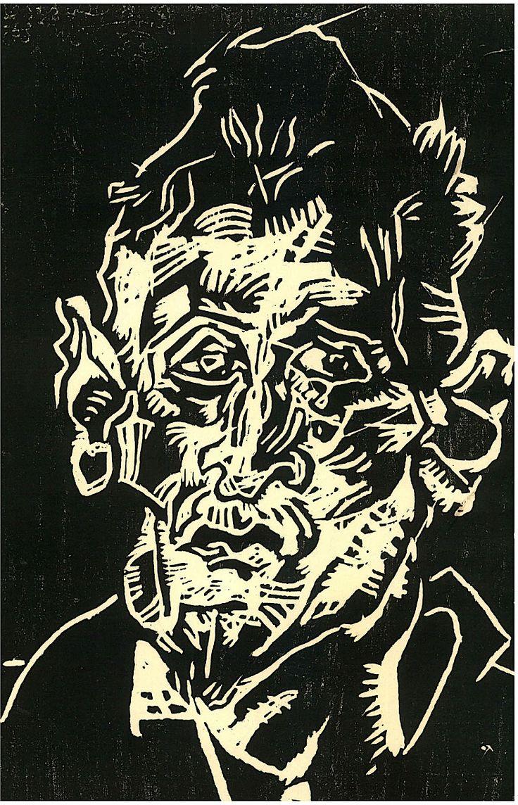Gert Wollheim, 'Head of an Old Man,' circa  1930's, German Expressionism.
