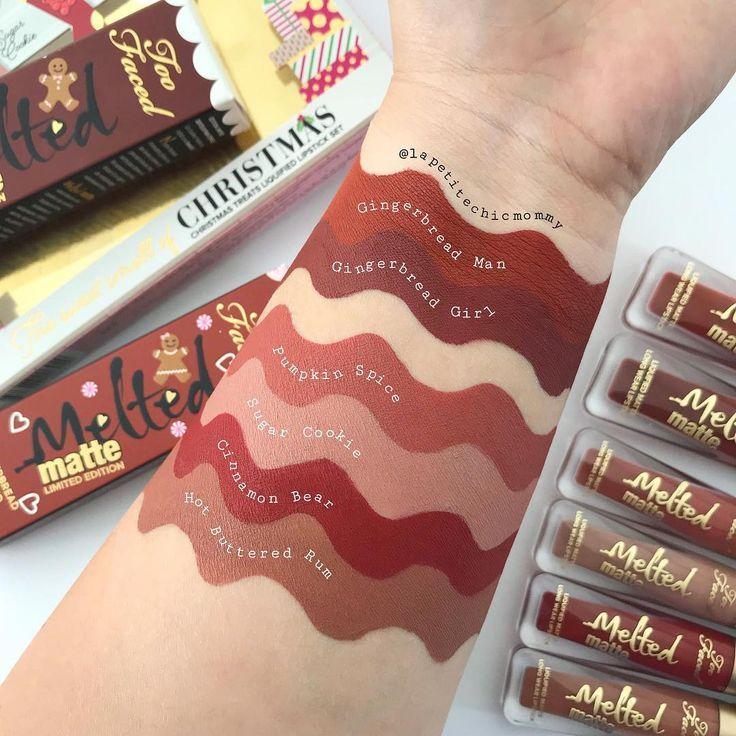 Swatches Of Toofaced Holiday Liquid Lipstick Liquid Lipstick