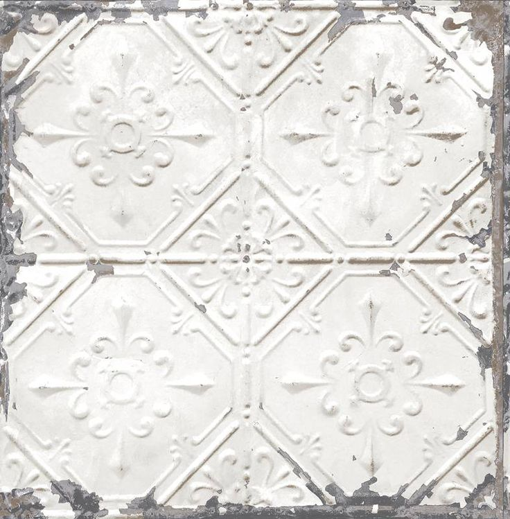 Dutch Wallcoverings Reclaimed vintage tegel behang grijs