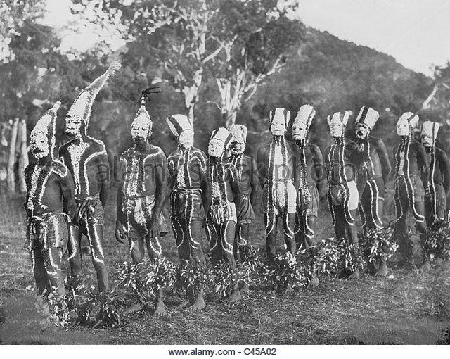 Aborigines in Australia, 1930 - Stock Image