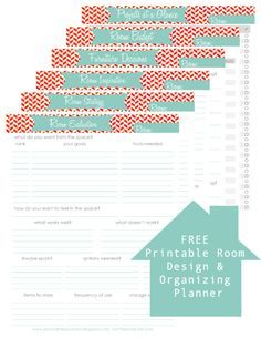 Home redecorating or remodel planner free printable..def going to be needing this while we re-do our home!