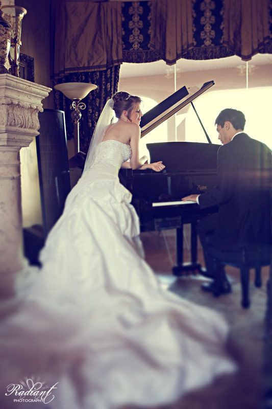 He's an amazing classical pianist who serenades her regularly... so it was only appropriate for us to take this photo. #wedding