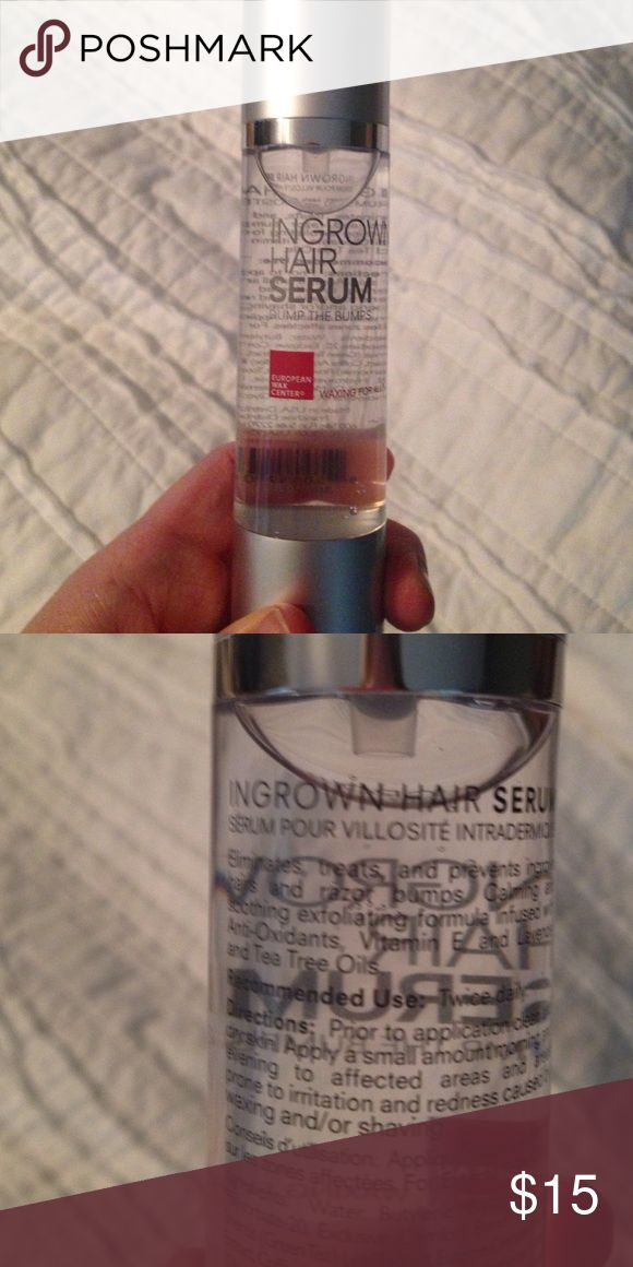 European Wax Center Ingrown Hair Serum Treats and prevents ingrown hairs and bumps. Soothing with tea tree oil and lavender. 1.7 oz bottle. Factory sealed never used! European Wax Center Other