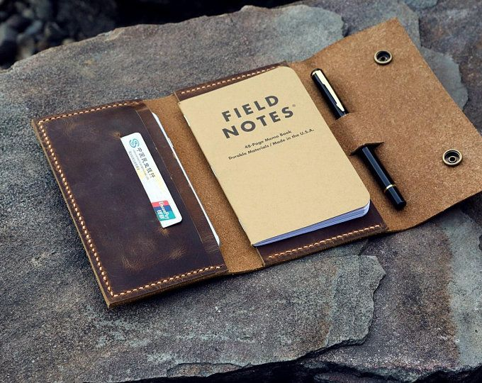 4ab5d7bcfabf Distressed leather cover portfolio for MOLESKINE classic notebook ...