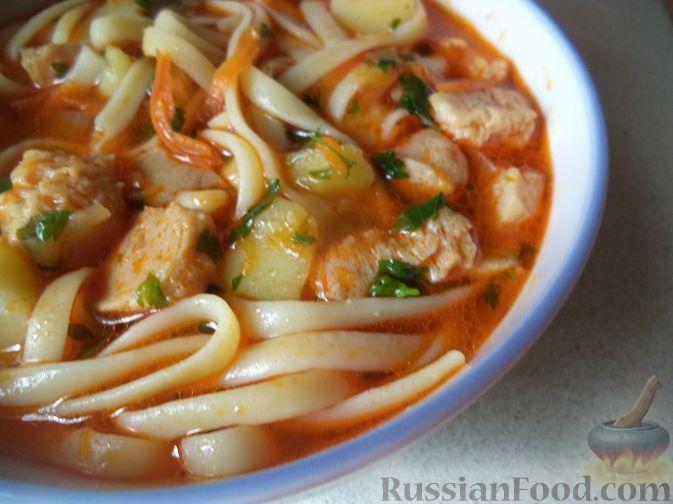 Фото приготовления рецепта: Лагман (узбекская кухня) - шаг №15