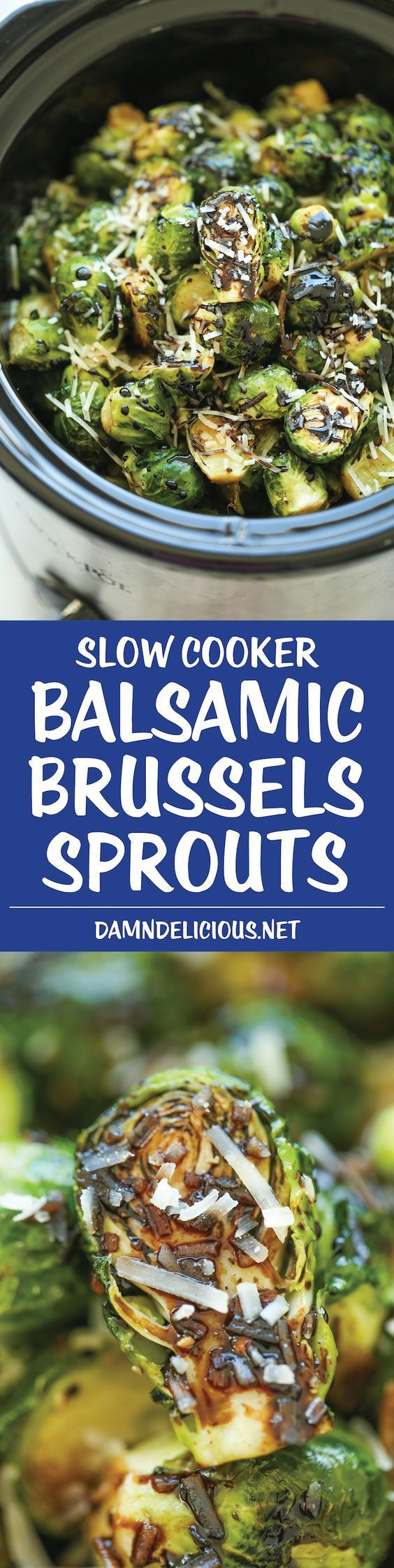 The trick to great Brussels Sprouts? Buy them as fresh as you can (and never go frozen)! Another awesome tip - try  this recipe for slow-cooker Balsamic Brussel Sprouts. A pinch of brown sugar and parmesan thrown in will blow your mind, converting you to crock pot bliss forever!