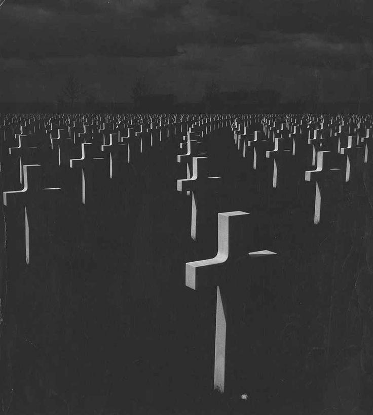 Aart Klein - Cemetery at night. c. 1960. ☀