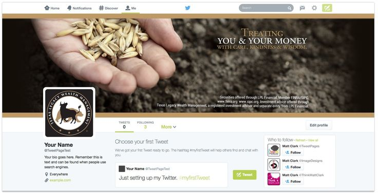 Texas Legacy Wealth Management Twitter Design - by TweetPages.com #TweetPages