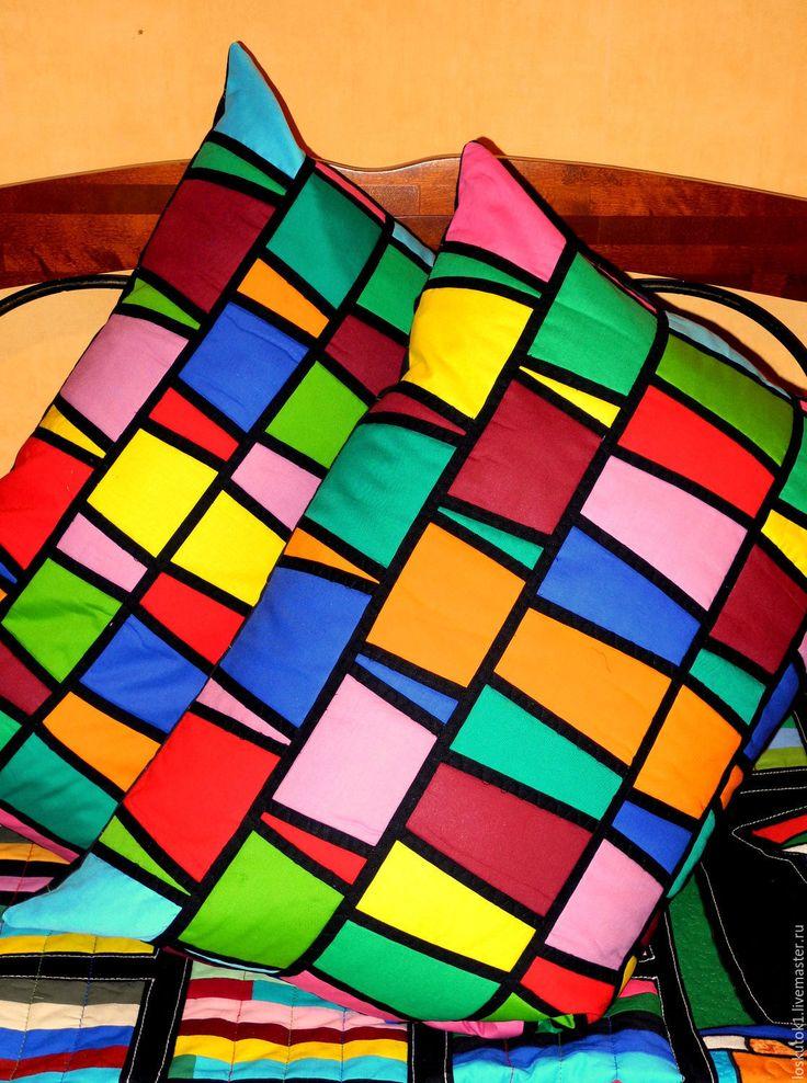 Купить лоскутные подушки ВИТРАЖНЫЕ - лоскутные подушки, лоскутная подушка, лоскутная подушки, лоскутные подушка
