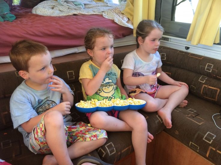 Movie time camping!  http://www.moloneymayhem.com/recipe-for-camping-with-4-kids/
