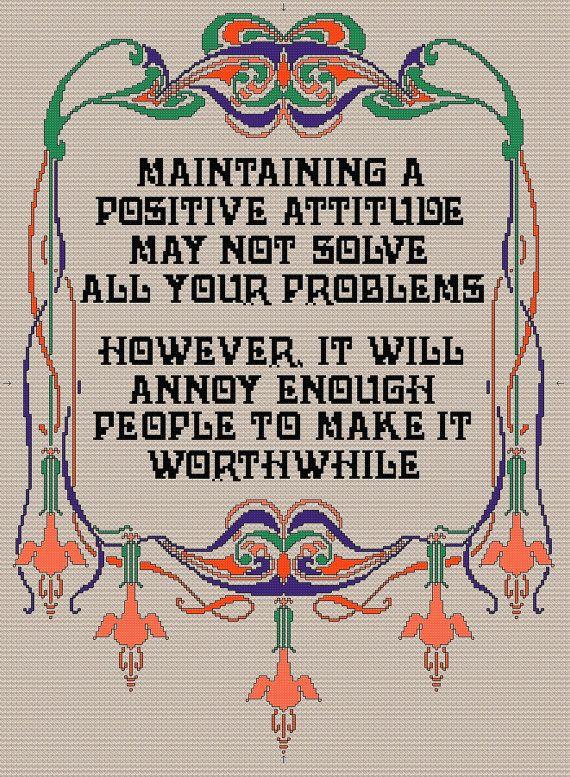 Positive+Attitude+PDF+Cross+stitch+Pattern+by+Chartsandstuff,+£3.50