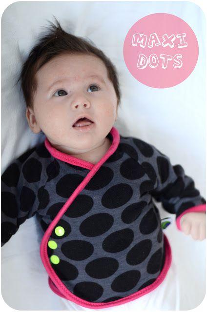 angorafrosch: baby jacket - maxi dots - hamburger liebe