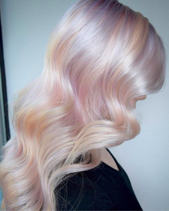 Image result for dramatic hairstyle: opal hair color