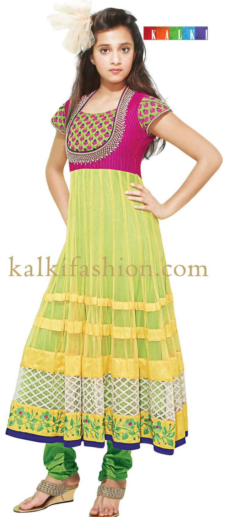 Buy it now http://www.kalkifashion.com/yellow-anarkali-dress-with-resham-embroidery.html  Yellow anarkali dress with resham embroidery