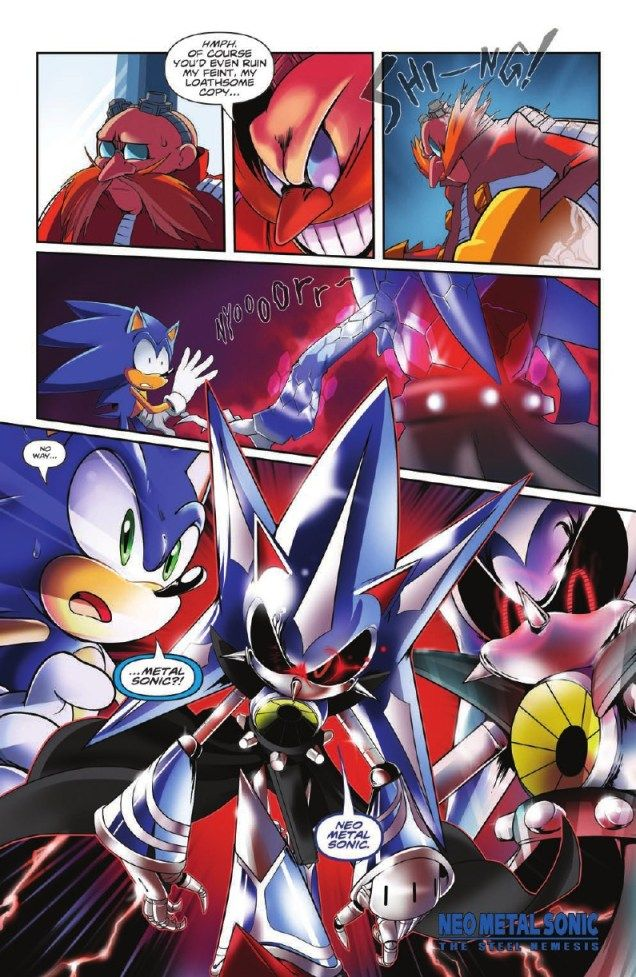 Idw Sonic spoiler issue 7 Reveal is Neo Metal Sonic | Sonic