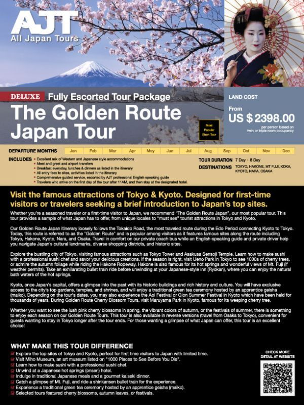 7 8 Days The Golden Route Japan 2021 2022 2023 All Japan Tours In 2021 Japan Japan Itinerary Osaka Japan