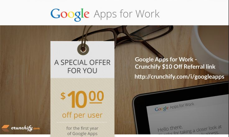 G Suite [Google Apps] For Works Review: $10 off per user per year coupon code http://crunchify.me/1VIFphG #gsuite #google #deals #promo
