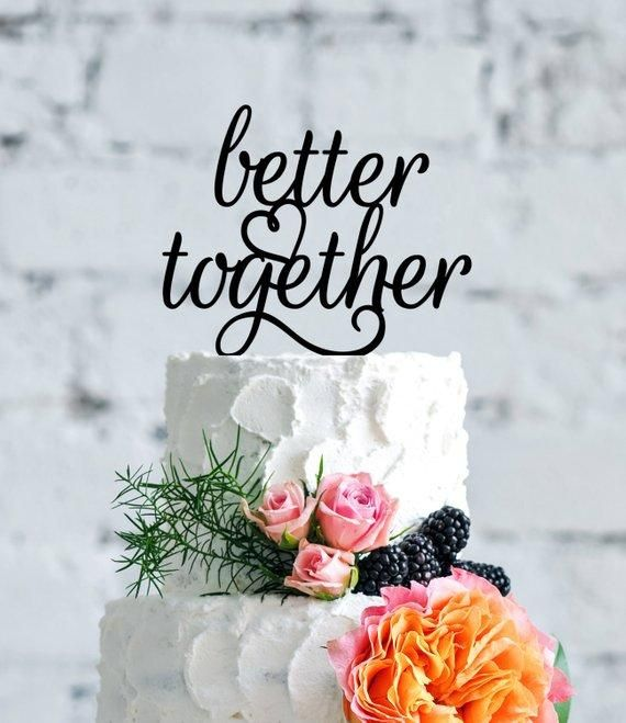 better together wedding cake topper - stocking stuffer for the bride - a curated collection of easy, last minute stocking stuffer gifts for the bride in your life from The Garter Girl #gartergirl #gartergirlloves #thegartergirl #stockingstuffer #bridetobe #bride #bridegift
